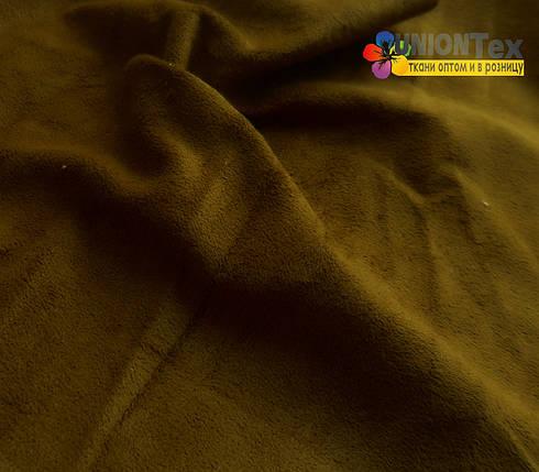 Искусственная замша коричневая (отрывная), фото 2