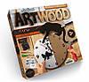 Набор для творчества ART WOOD НАСТЕННЫЕ ЧАСЫ выпиливание лобзиком Danko Toys