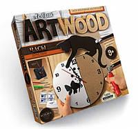Набор для творчества ART WOOD НАСТЕННЫЕ ЧАСЫ выпиливание лобзиком Danko Toys, фото 1