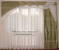 Жесткий ламбрекен Оливковый, фото 1