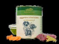 Корм премиум-класса для собак консервированный Hubertus Gold. Индейка с лапшой 800 г