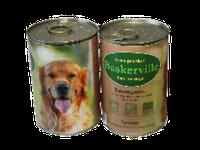 Корм премиум-класса для собак консервированный Баскервиль. Кролик с лапшой и морковкой 800 г