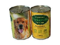 Корм премиум-класса для собак консервированный Баскервиль. Консервы Петух с рисом и цукини 800 г