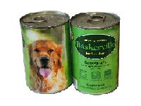 Корм премиум-класса для собак консервированный Баскервиль. Баранина с картошкой и тыквой 400 г