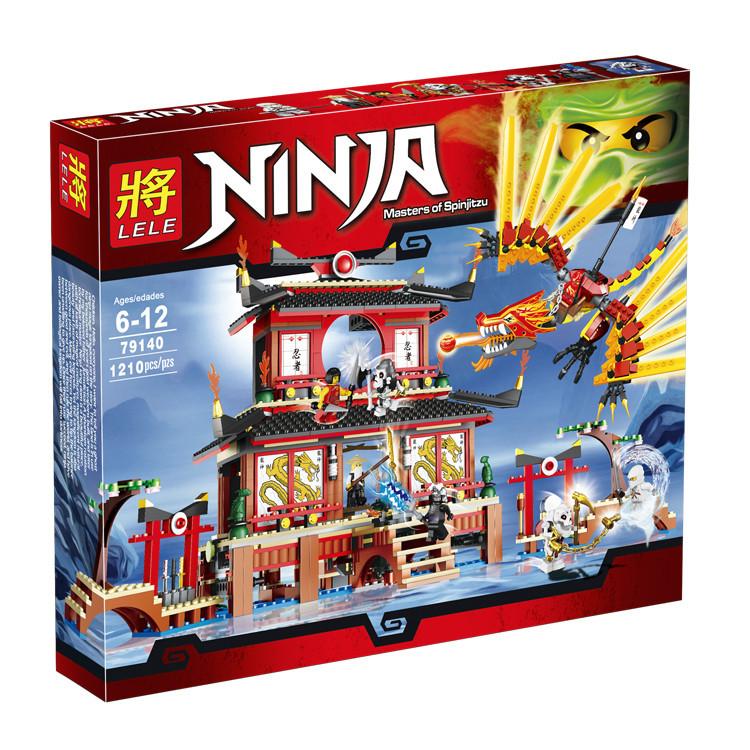 "Конструктор Lele Ninja (аналог Lego Ninjago) 79140 ""Огненный Храм"", 1210 дет"