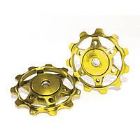 Ролики заднего переключателя XLC, золотые (2501106706)