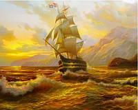 """Алмазная вышивка """" Корабль в море"""""""