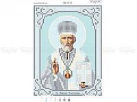 Схема вышивки бисером «Св Николай»/серебро/ (A6)