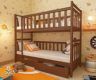 """Кровать двухъярусная детская подростковая от """"Wooden Boss"""" Александр (спальное место 70 cм х140 см), фото 1"""