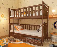 """Кровать двухъярусная  детская подростковая от """"Wooden Boss"""" Александр (спальное место 80 cм х 190/200 cм)"""