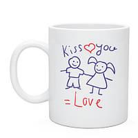 Кружка «Целую и люблю тебя»