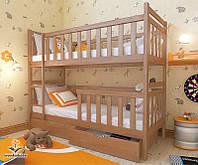 """Кровать двухъярусная  детская подростковая от """"Wooden Boss"""" Александр Плюс (спальное место 90 см х 190/200 см), фото 1"""