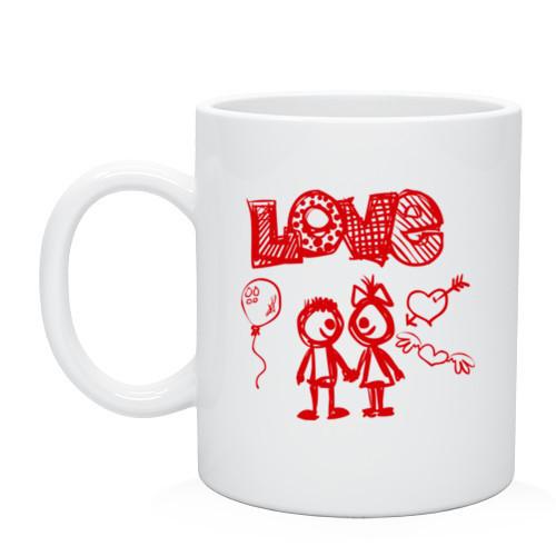 Кружка «Любовь рисунок»