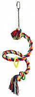 Канат Trixie Spiral Rope Perch для птиц с колечками, 50см/Ø21 мм