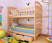 """Кровать двухъярусная  детская подростковая от """"Wooden Boss"""" Даниель  (спальное место 90 см х 190/200 см), фото 1"""
