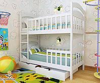 """Кровать двухъярусная  детская подростковая от """"Wooden Boss"""" Даниель Плюс(спальное место 70 см х 140 см), фото 1"""