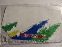 """Наклейка   логотип   """"KAWASAKI""""   (28х15см)   (#2322)"""