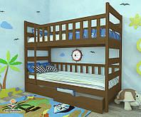 """Кровать двухъярусная  детская подростковая от """"Wooden Boss"""" Марко (спальное место 70 см х 140 см), фото 1"""
