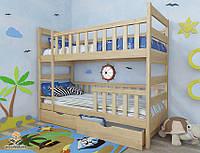 """Кровать двухъярусная  детская подростковая от """"Wooden Boss"""" Марко Плюс (спальное место 90 см х 190/200 см), фото 1"""