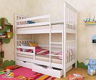 """Кровать двухъярусная  детская подростковая от """"Wooden Boss"""" Ромео Плюс (спальное место 70 см х 140 см), фото 1"""