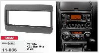 1-DIN переходная рамка TOYOTA Universal black, CARAV 11-036