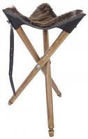 Стульчик охотничий с сиденьем из натуральной шкуры бобра.Акрополис(Acropolis)СТ-1хб