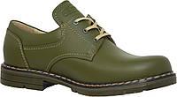 Туфли для охотников кожаные зеленые.Акрополис(Acropolis)МТШ-1