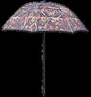 Рыболовный зонт камуфляжного цвета со сгибающимся куполом Carp Zoom Camou Umbrella 250 см (CZ4788)