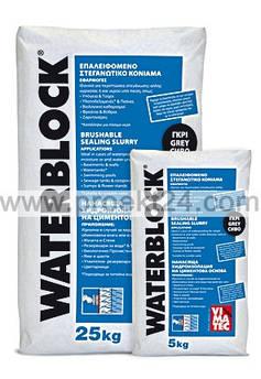 Гидроизоляция подвалов и резервуаров Waterblock серый (мешок 25 кг)