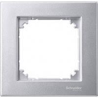 Рамка 1- пост. Merten SM M-Plan Алюминий MTN486160