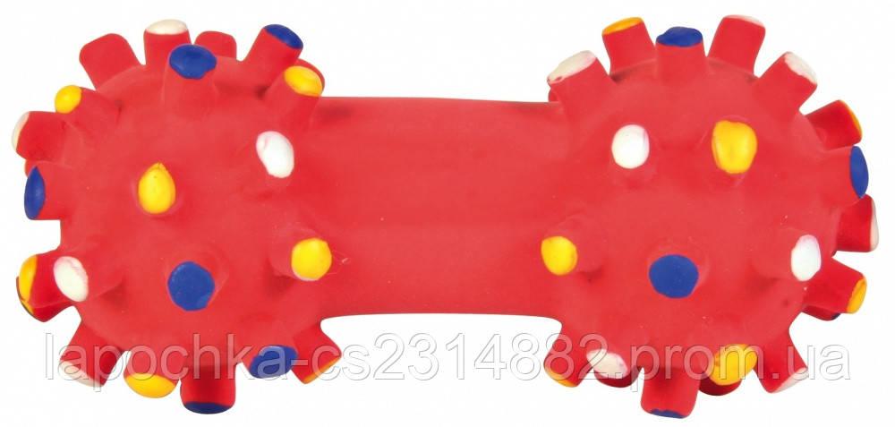 Игрушка для собак Trixie Гантель игольчатая, латекс 10 см