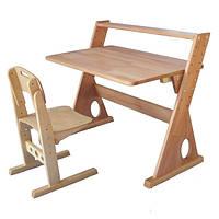 """Набор школьной мебели из дерева Комплект """"Пиза мини"""" Парта и стул ТМ Кинд"""
