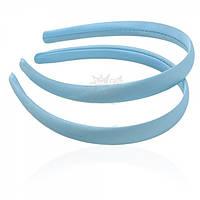 Обруч пластиковый, обтянут голубой атласной лентой 1,5 см