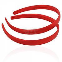 Обруч пластиковый, обтянут красной атласной лентой 1,5 см