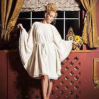 Халат женский махровый LUISA кремовый M. Все размеры.