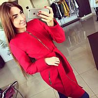 Пальто женское Квадрат красное , магазин пальто