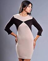 Женское стильное платье трикотаж р.48