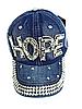 Бейсболка подростковая джинсовая HOPE