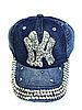 Бейсболка подростковая джинсовая NY