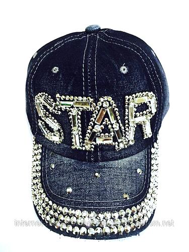 Бейсболка подростковая джинсовая STAR