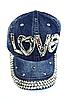 Бейсболка подростковая джинсовая LOVE