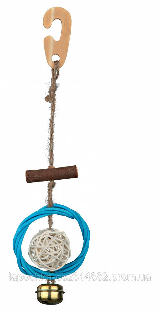 Игрушка Trixie Natural Toy with Sisal Rope для птиц, 22см