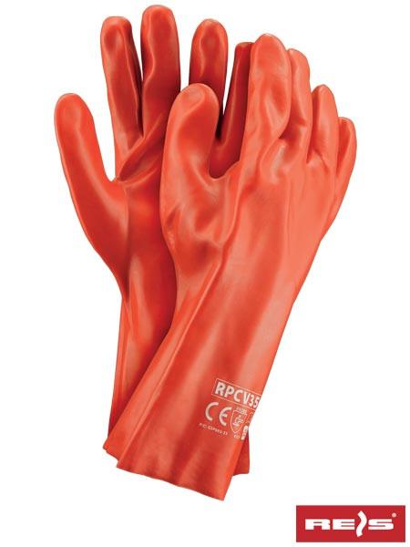 Перчатки защитные покрытые ПВХ RPCV35 C