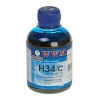 Чернила WWM для HP №22/121/122 200г Cyan Водорастворимые (H34/C)