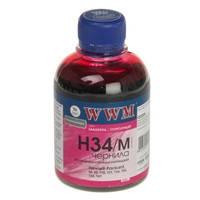 Чернила WWM для HP №22/121/122 200г Magenta Водорастворимые (H34/M)