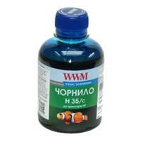 Чернила WWM для HP №22/134/121 200г Cyan Водорастворимые (H35/C) для СНПЧ
