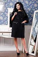 Женское демисезонное пальто свободного кроя черное 928 Cristina Drap