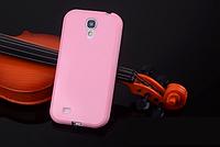 Силиконовый розовый чехол для Samsung Galaxy S4