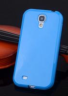 Силиконовый голубой чехол для Samsung Galaxy S4