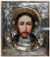 Иконы в серебряных окладах. Икона Спас Нерукотворный №172